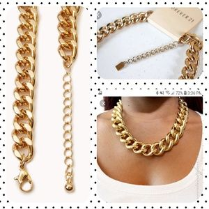 Forever 21 Large chunk gold chain necklace